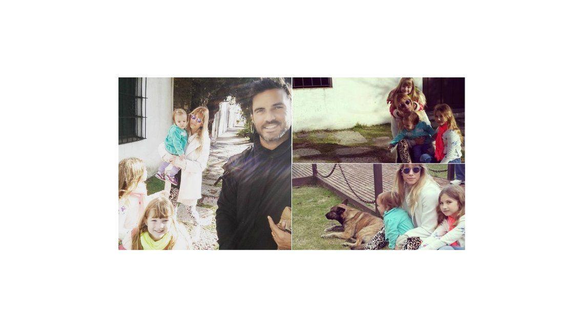 El fin de semana familiar de Nicole Neumann y Fabián Cubero con sus hijas en Uruguay