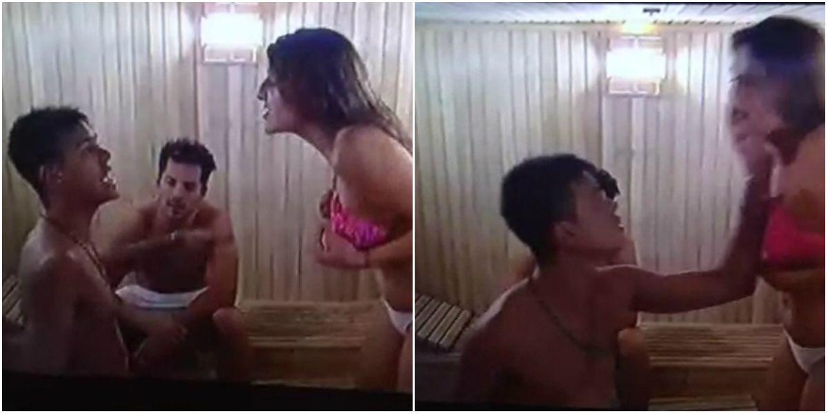 Después de la fiesta, la agresión de Brian a Marian: el video de un cachetazo y las redes arden