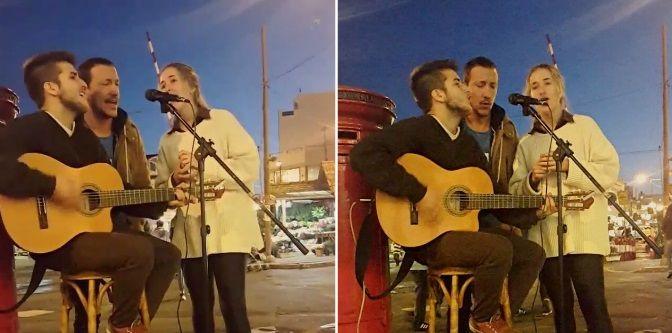 Nico Vázquez canto a la gorra en su bar y la rompió con su inglés: ¡Mirá el video!