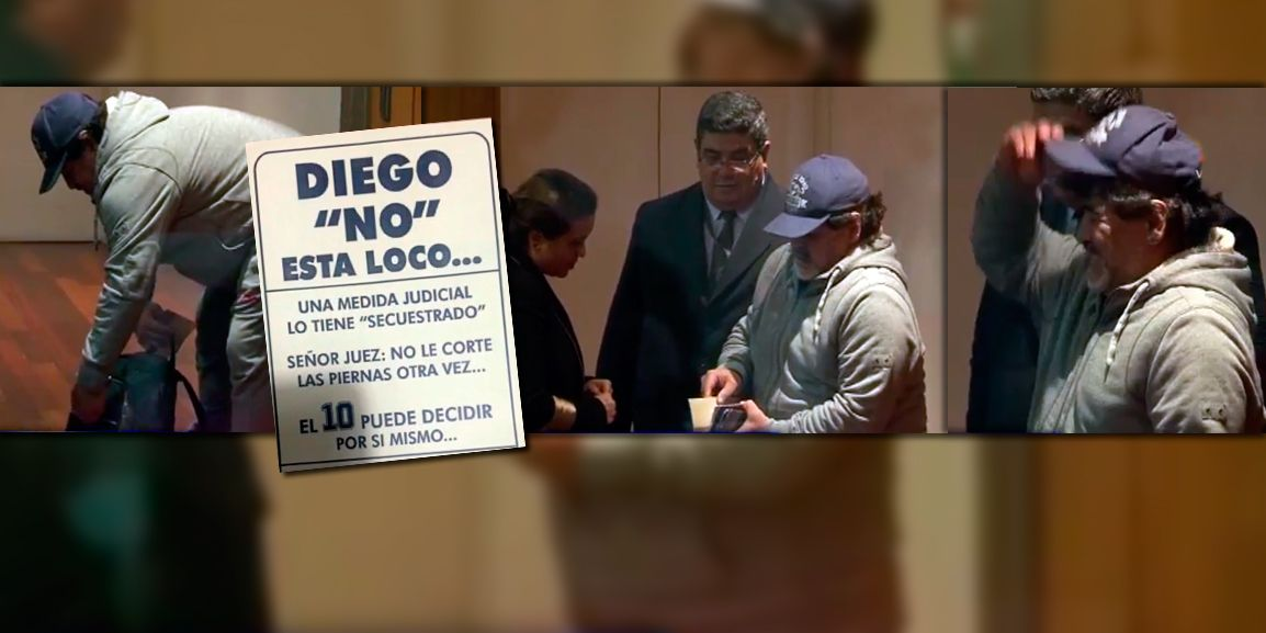 Así se fue Diego Maradona del país, con destino a Dubai y sin Rocío Oliva