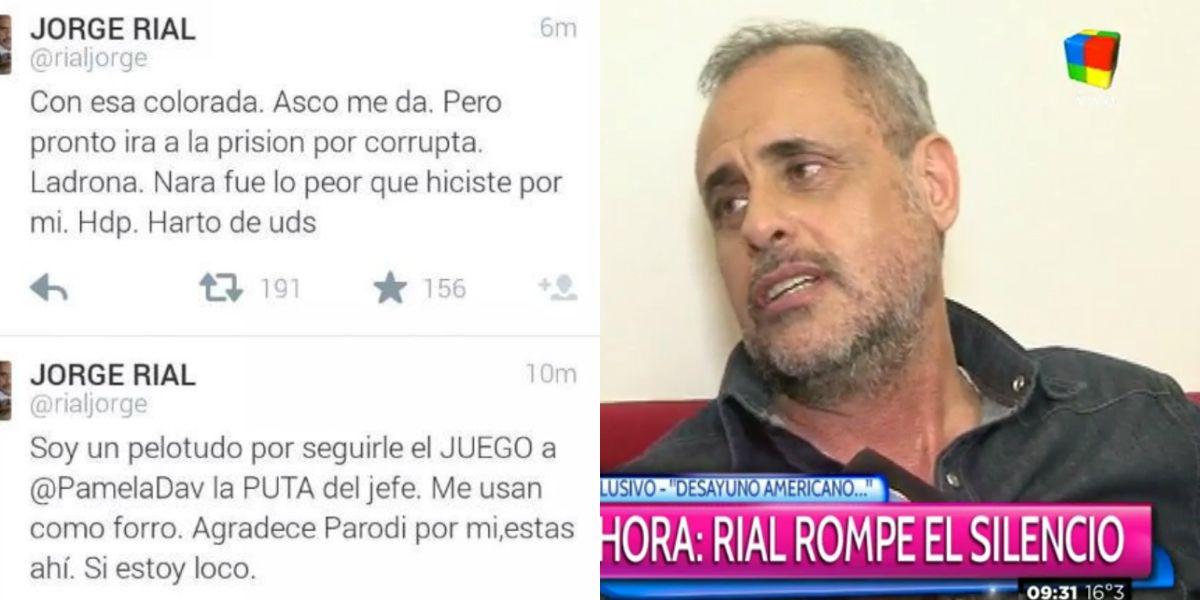 Jorge Rial habló sobre el hackeo de su cuenta de Twitter: Algo sabemos sobre quién fue