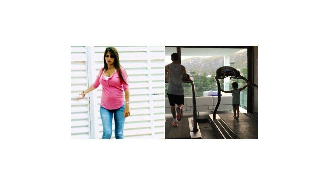 Antonella Roccuzzo, ansiosa por dar a luz: Leo y Thiago entrenan y yo engordo