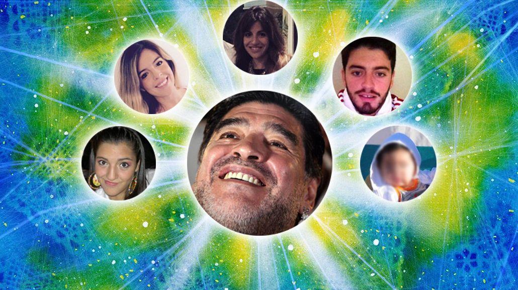 Diego Maradona anuló un testamento que beneficiaba a Dalma y Giannina sobre sus otros hijos