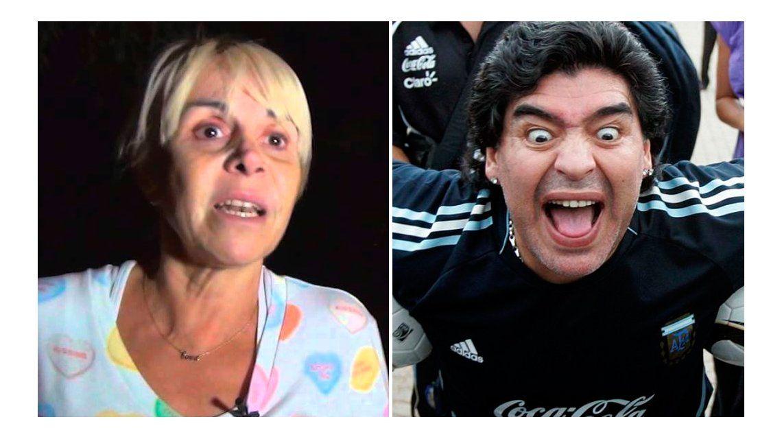 El plan de Claudia Villafañe para hacer pasar por loco a Diego Maradona