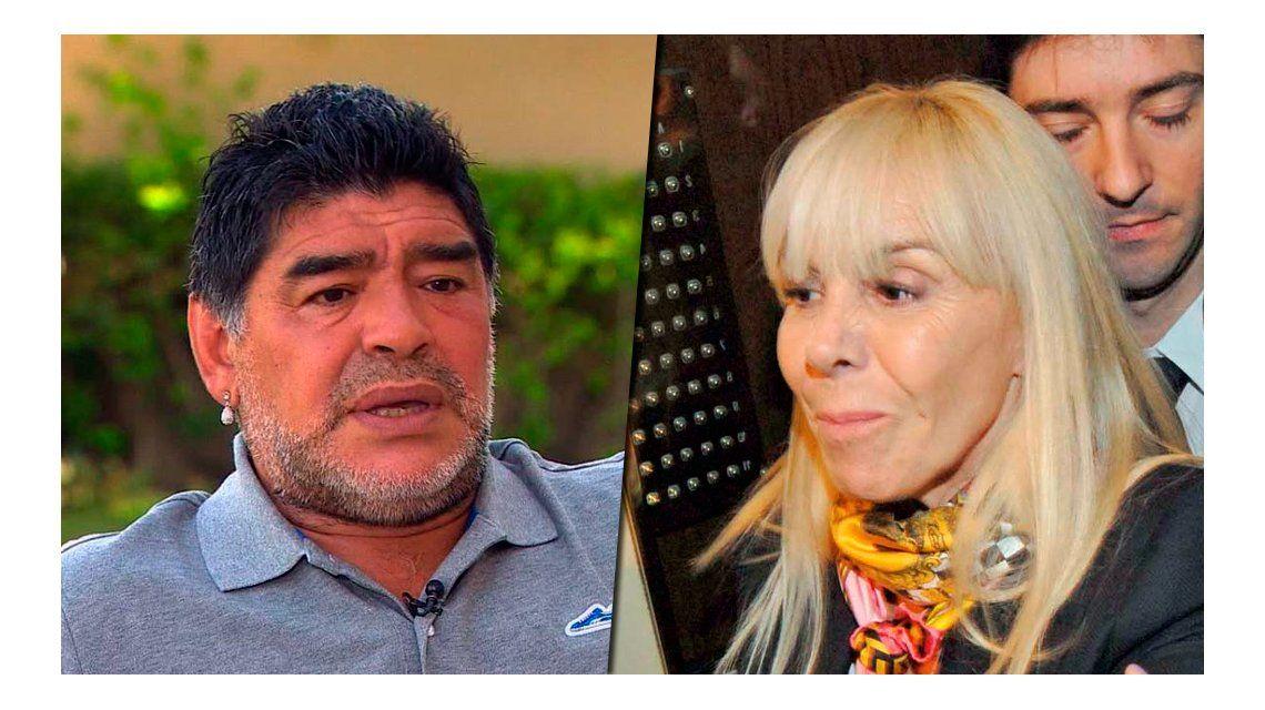 Fuerte avance de las causas judiciales de Diego Maradona contra Claudia Villafañe