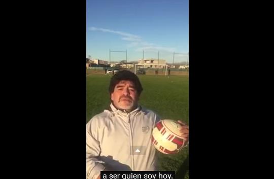 Fuerte video de Diego Maradona:  Tengo la tristeza de un hijo que es agradecido