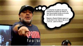 Maradona: Que Claudia me devuelva lo mío y que Dalma y Gianinna me den cariño