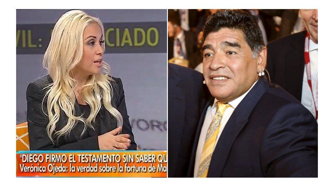 Verónica Ojeda: Diego me dio a entender que firmó el testamento engañado