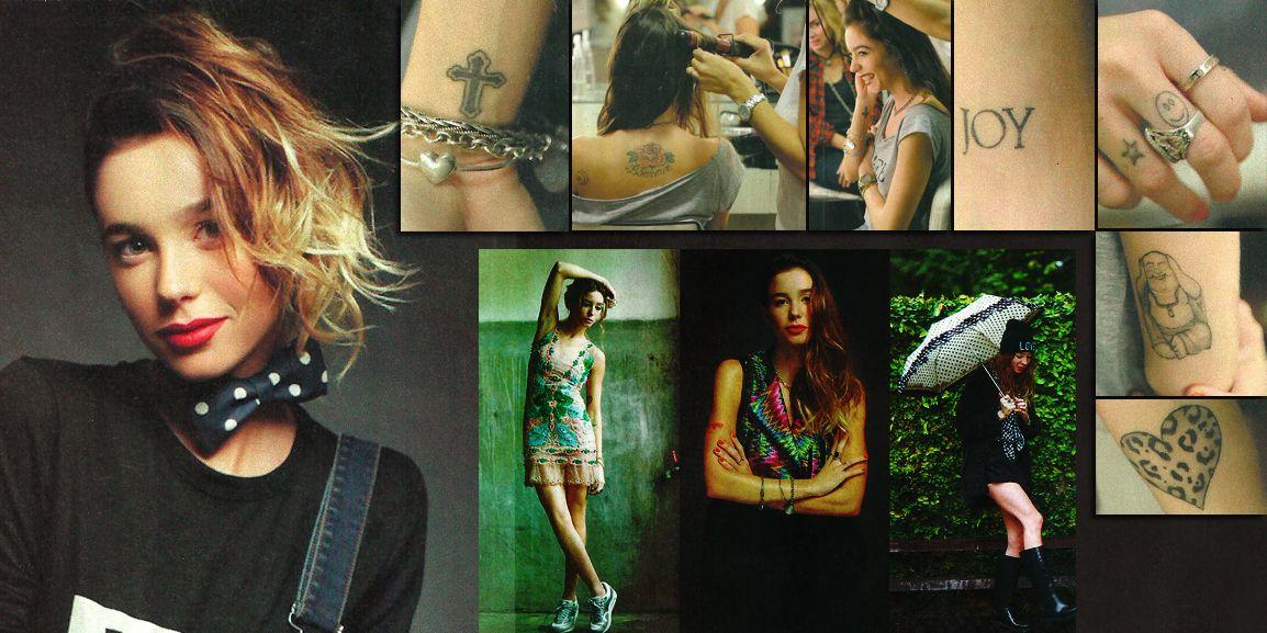 Los llamativos tatuajes de Lucía Celasco
