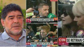Reunión secreta entre Maradona y Claudia: Él también le debe dinero a ella