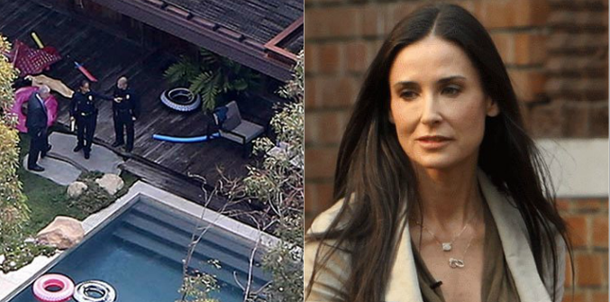 Qué dijo Demi Moore sobre el hallazgo del joven muerto en la piscina de su casa