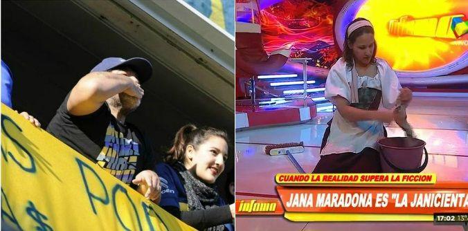 En medio del reclamo financiero a Claudia Villafañe, Diego Maradona se aleja de Dalma y Gianinna y elige a Jana