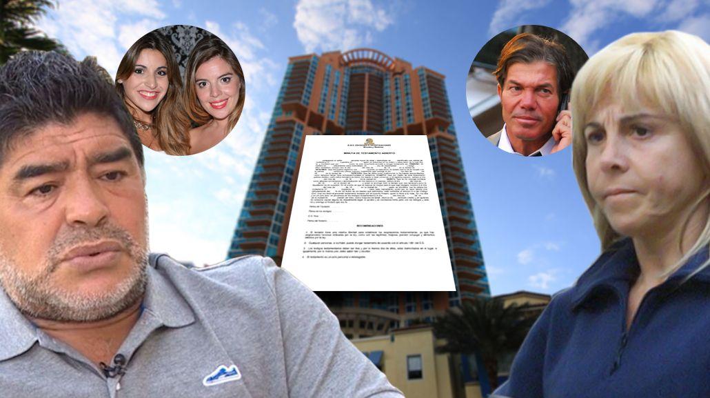 Guerra Maradona - Claudia Villafañe: apareció un testamento, la postura de Dalma y Gianinna y la estrategia de Fernando Burlando