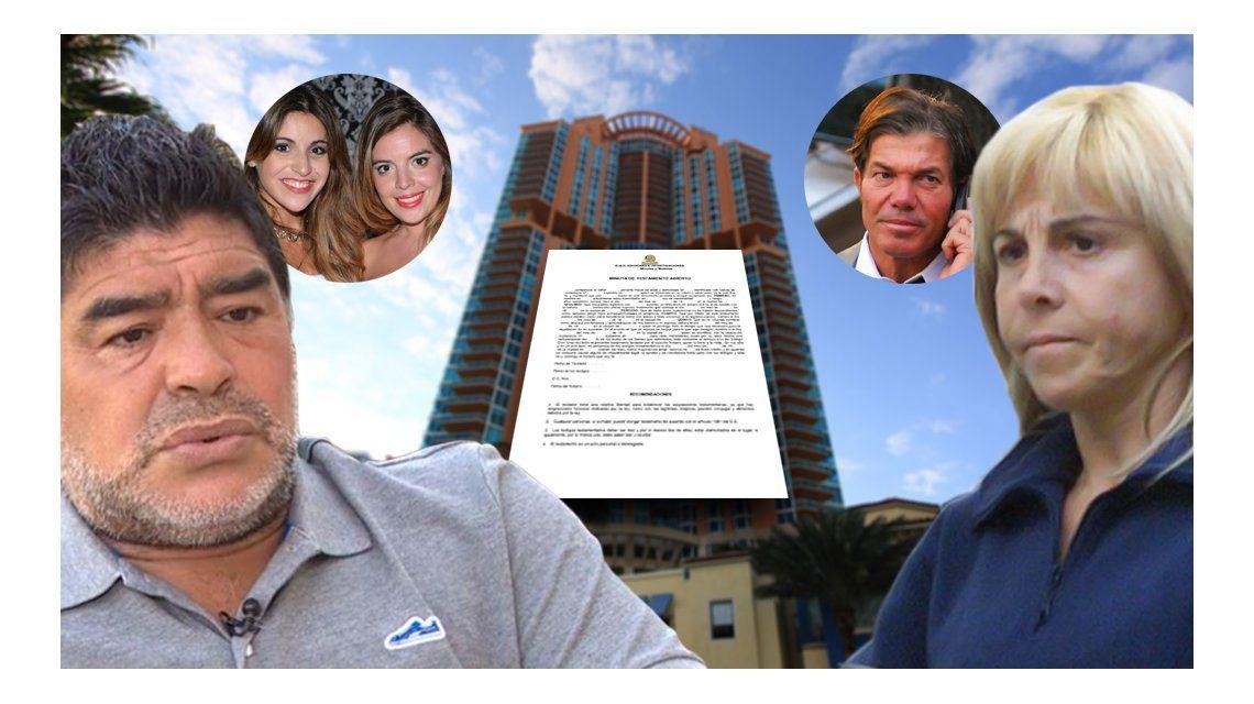 Maradona y Claudia Villafañe van a juicio: las siete causas que presentará Diego