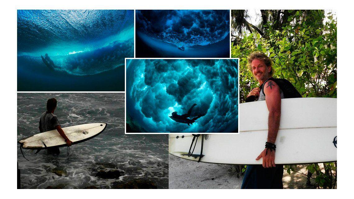 Las increíbles fotos de Facundo Arana surfeando en paradisíacas playas