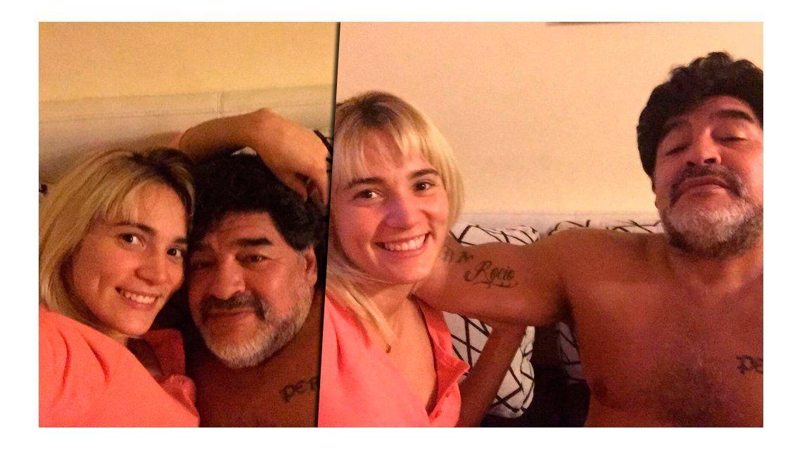 Las idas y vueltas de Diego Maradona: no se sabe si Rocío Oliva viaja a Dubai