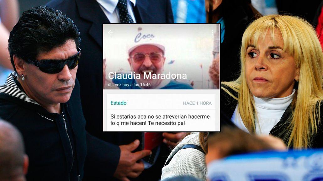 La respuesta de Claudia Villafañe a las acusaciones de Diego Maradona