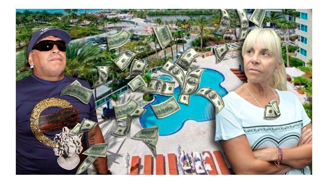 Las propiedades de lujo y las millonarias cuentas por las que Diego Maradona denuncia a Claudia Villafañe