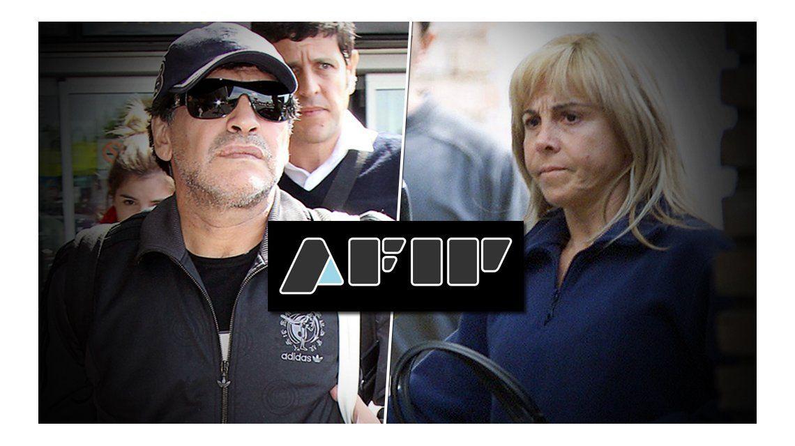 Diego Maradona denunciará a Claudia Villafañe ante la AFIP por evasión agravada