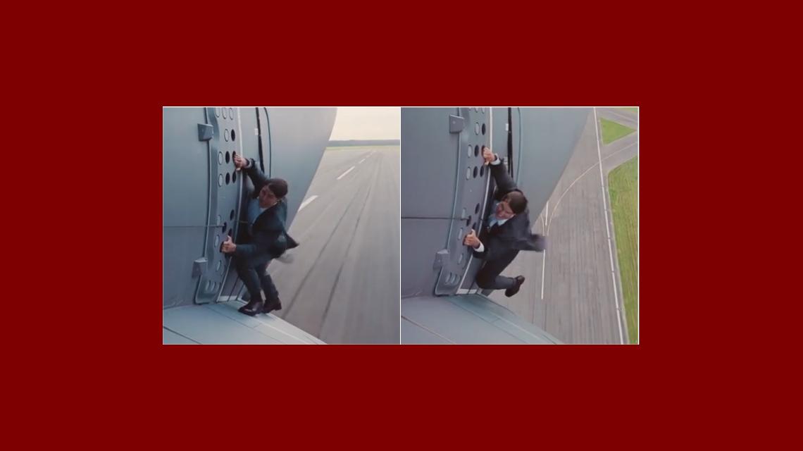 Tremendo video de Tom Cruise colgado de un avión mientras despega