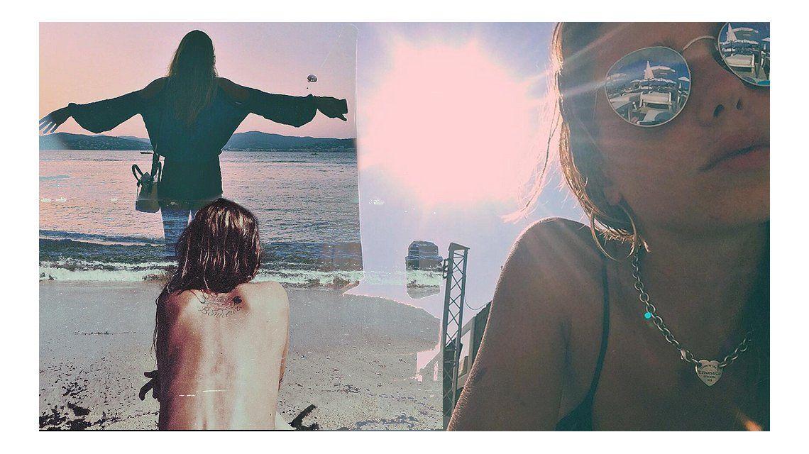 Arde Europa: el topless de Lucía Celasco durante sus vacaciones con su novio en la playa