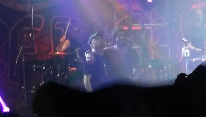 Daniel Osvaldo, otra vez en la noche porteña: cantó con La Beriso