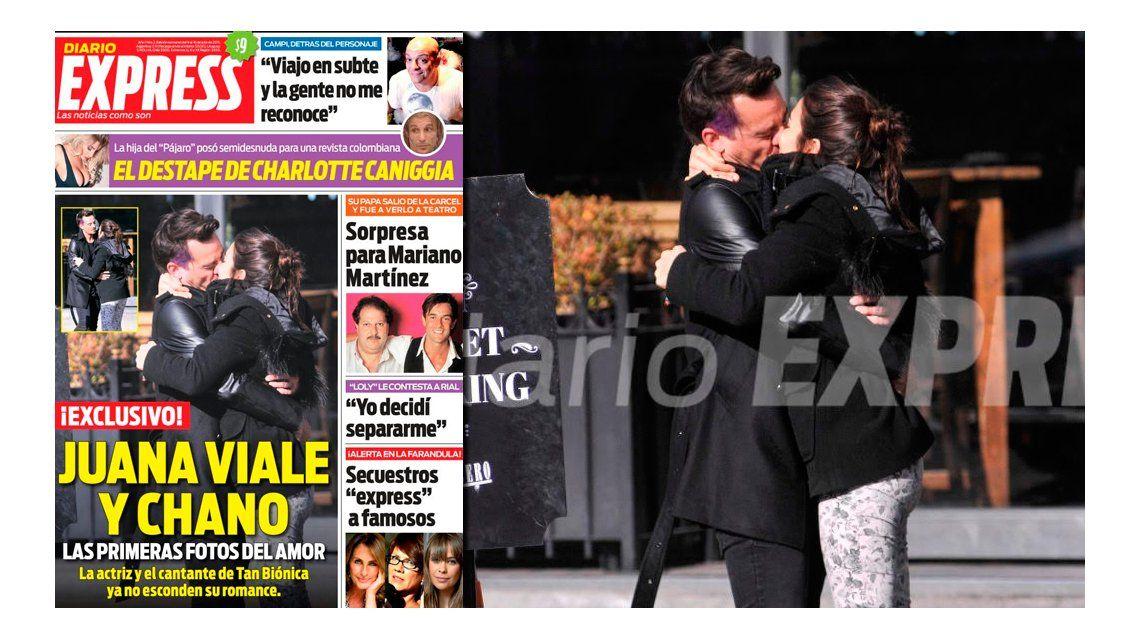 El primer beso de Juana Viale y Chano Charpentier en público