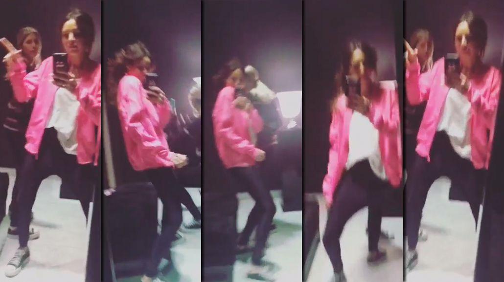 El sensual y divertido reggaeton de Candelaria y Micaela Tinelli mientras esperaban el ascensor