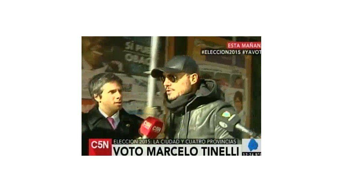 Así votaba Marcelo Tinelli: Elegir a nuestras autoridades es lo más lindo que nos puede pasar