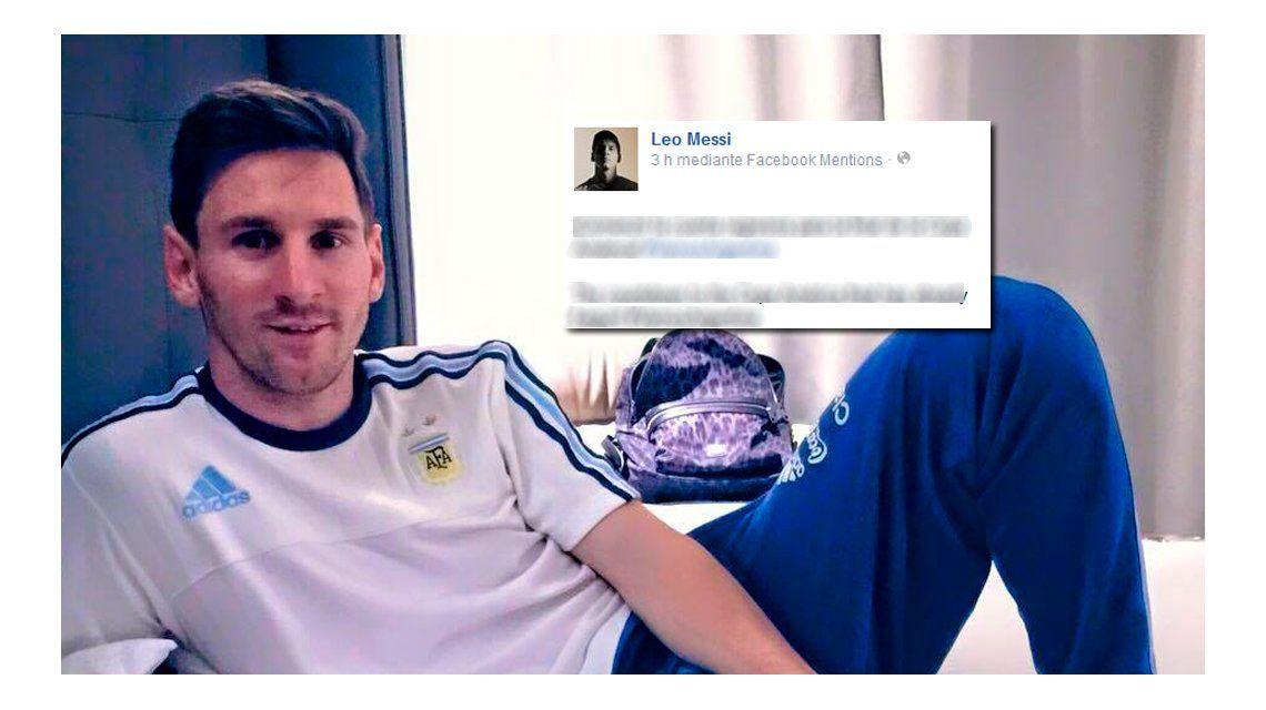 El mensaje de Lionel Messi para los argentinos antes de la final con Chile