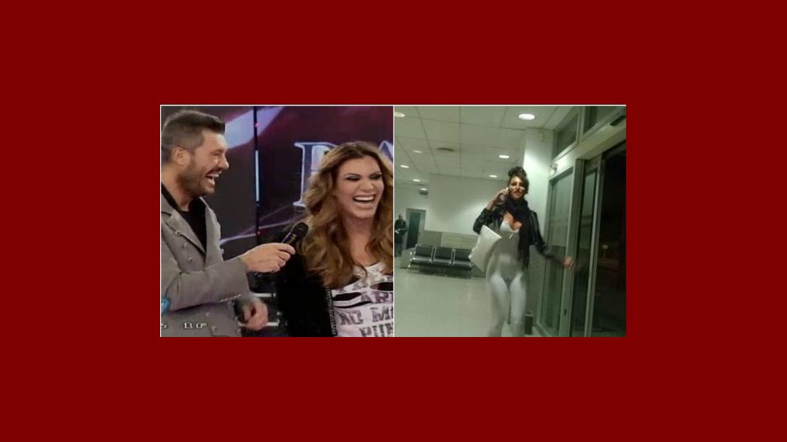 Tinelli y Flor de la V bromearon sobre el peculiar enterito blanco de Xipolitakis en el avión: Heavy la calza