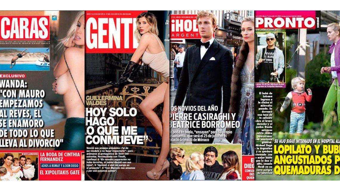 Tapas de revistas: Wanda Nara y Guillermina Valdes, madres y mujeres sexies
