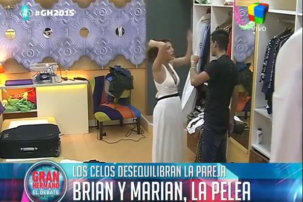 Así fue la fuerte pelea por celos de Marian y Brian en la fiesta del viernes