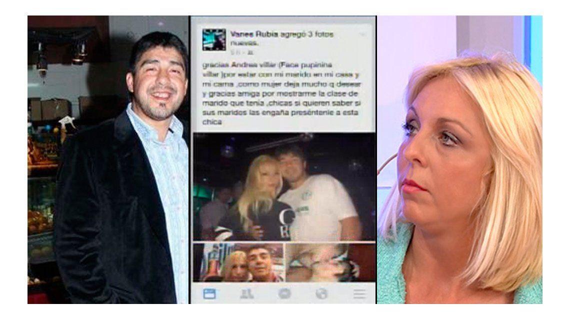 Chino Maradona y Vanesa, separados: ella lo escrachó en Facebook con fotos y acusaciones