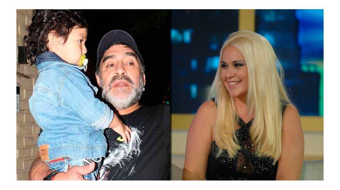 Maradona quiere ver a Dieguito Fernando pero con una condición: tener lejos a Verónica Ojeda