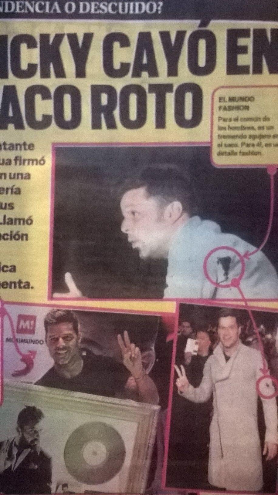 El blooper de Ricky Martin en la firma de discos: polémica vestimenta y saco roto