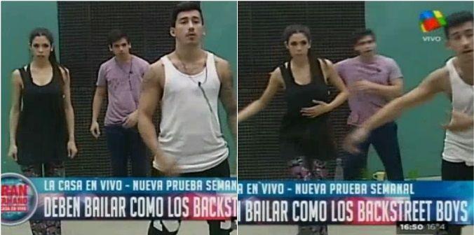 Nueva prueba semanal: los chicos ensayan una coreografía de los Backstreet Boys