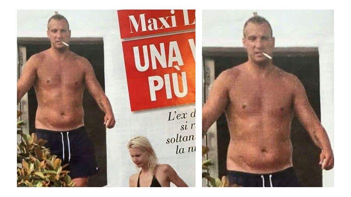 Maxi López, escrachado fumando y fuera de estado físico