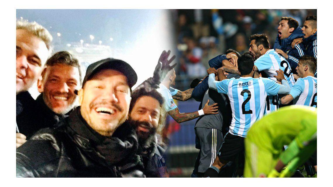 El festejo de Marcelo Tinelli por el agónico triunfo de la Selección argentina contra Colombia