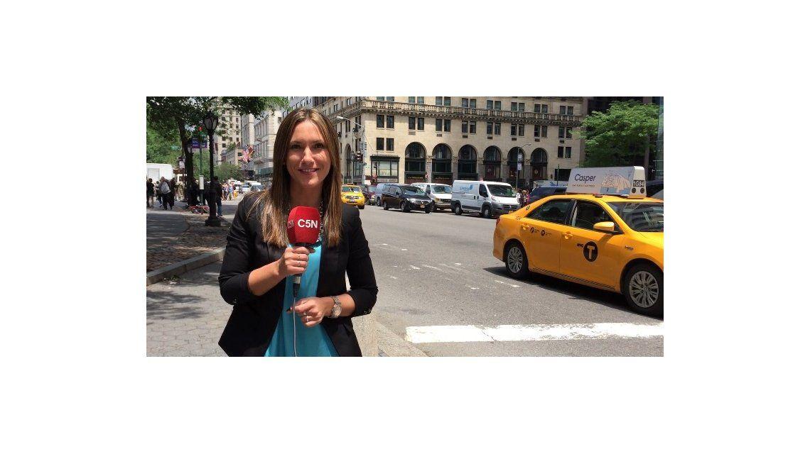 La periodista de C5N Fernanda Arena cumplió su sueño con Ricky Martin