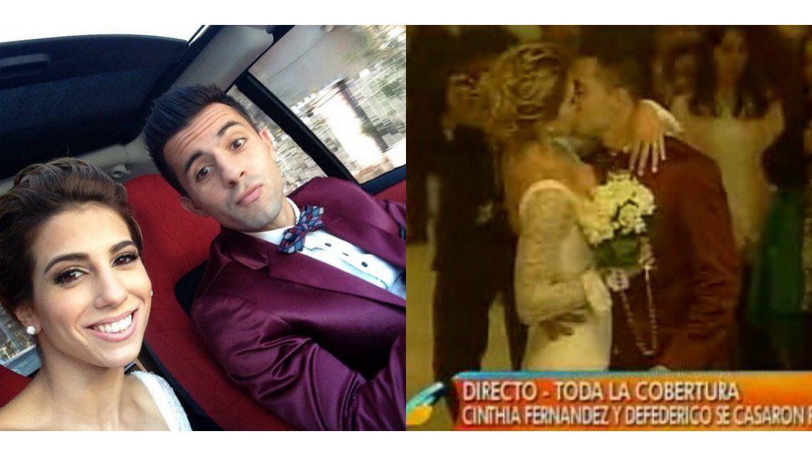 ¡Felicidades! Cinthia Fernández y Matías Defederico se casaron por civil