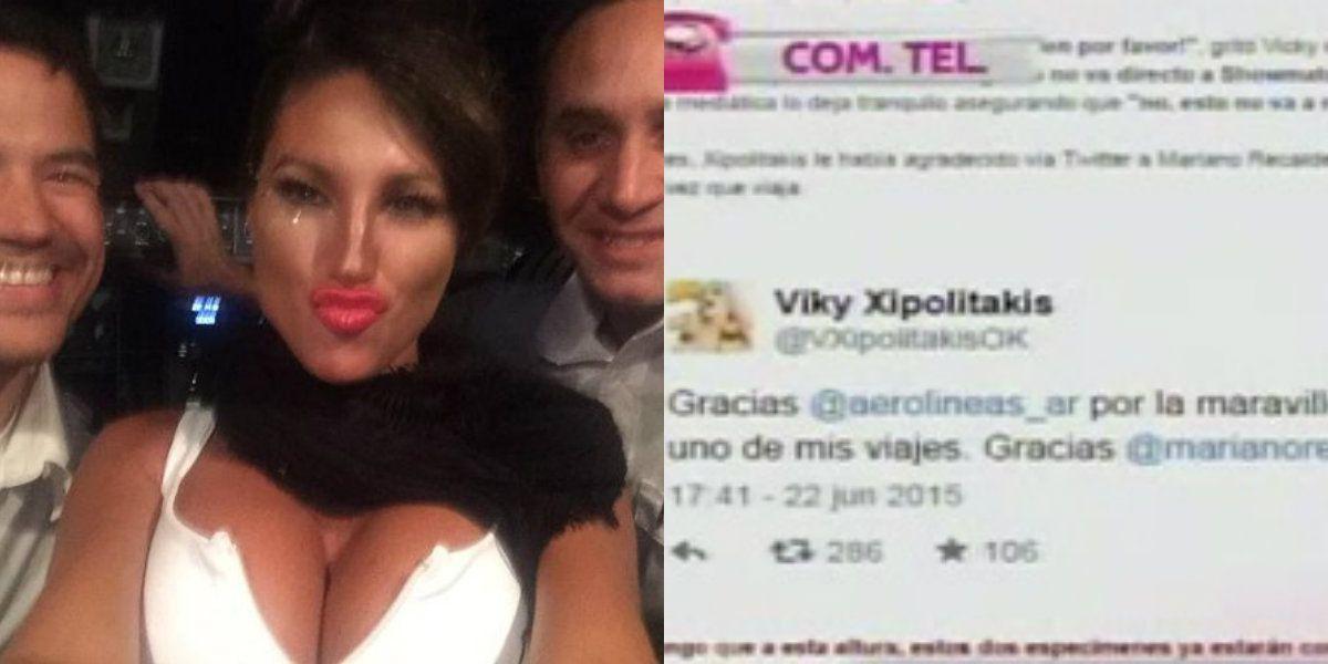 #VueloGriego: el polémico tuit que borró Vicky Xipolitakis