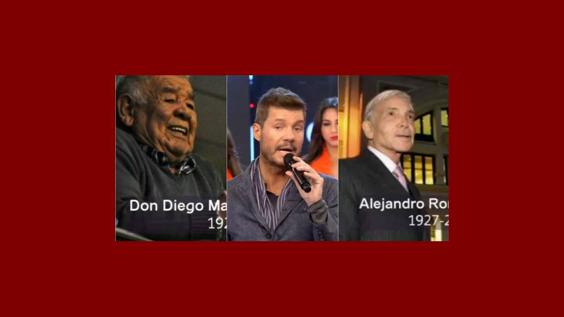 Emocionado, Marcelo Tinelli le dedicó el programa a Don Diego y Alejandro Romay