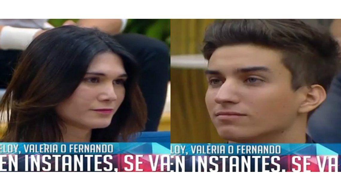 Valeria y Eloy fueron los nuevos eliminados de Gran Hermano y ya hay una fulminante