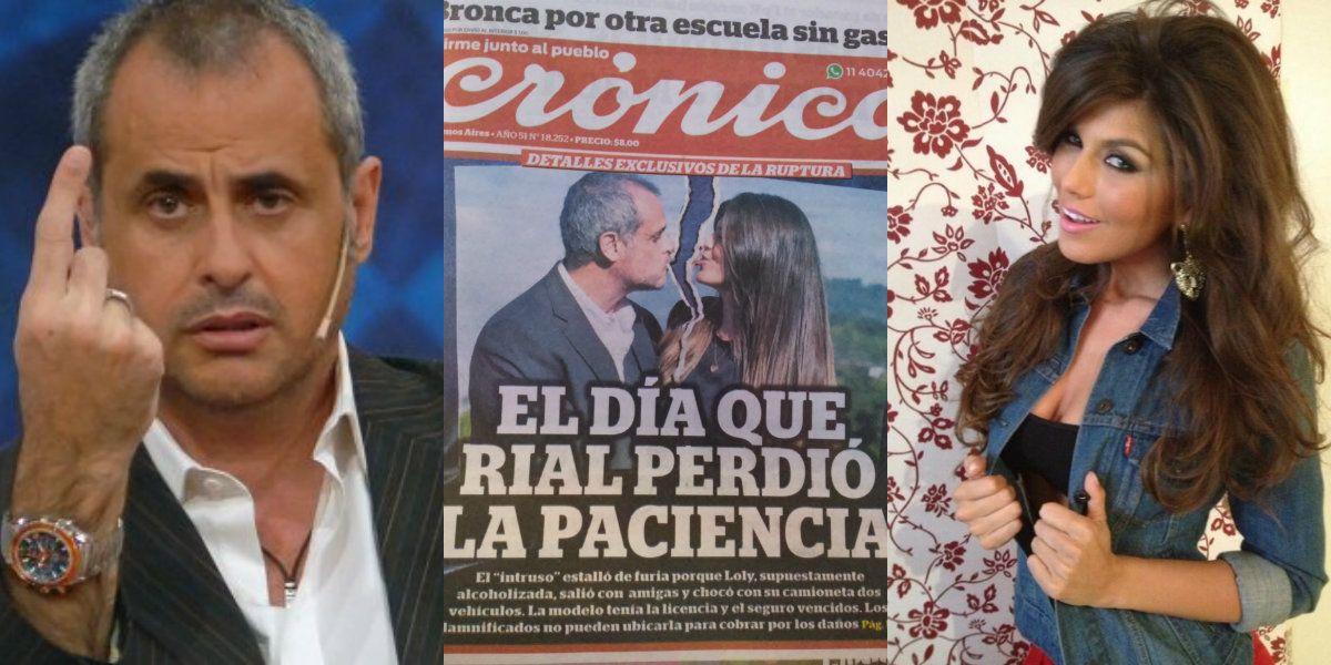 Jorge Rial desmiente la tapa de Crónica: Loly chocó, pero no estaba alcoholizada