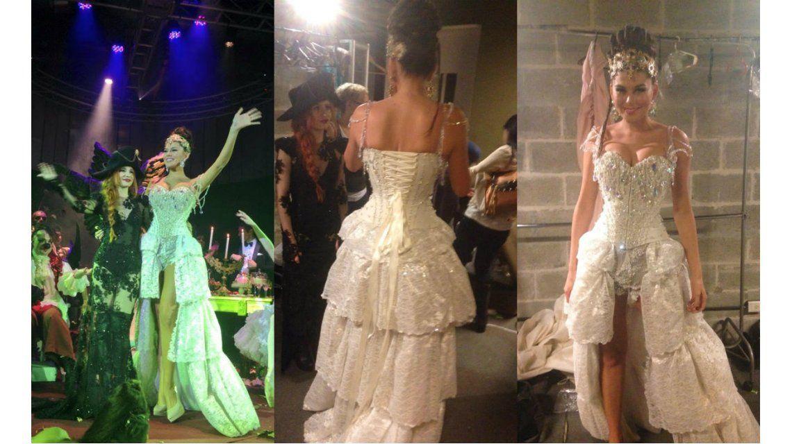 Crisis confirmada para Loly Antoniale y Jorge Rial: ella no lo desmintió y desfiló de novia solo para la foto