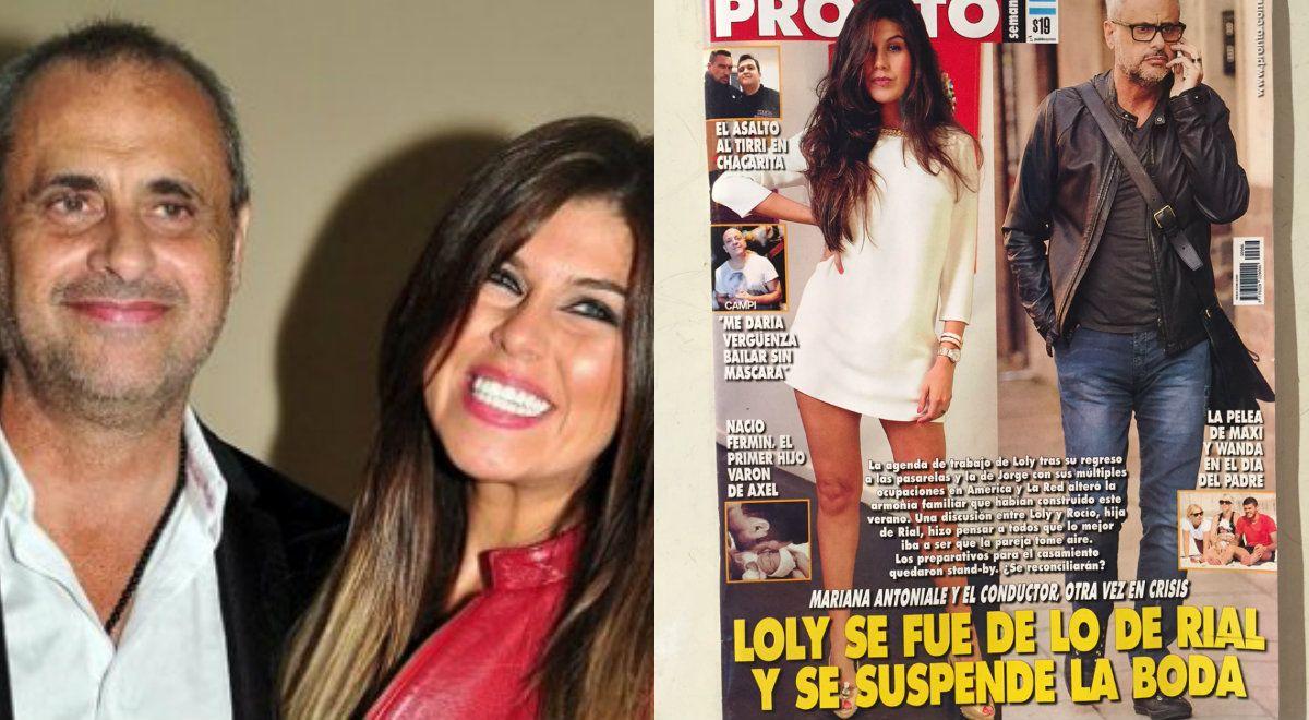 Loly Antoniale dejó la casa de Jorge Rial y se suspendió el casamiento