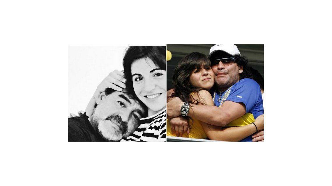 Gianinna Maradona saludó a Diego por el día del padre con un tierno mensaje y foto