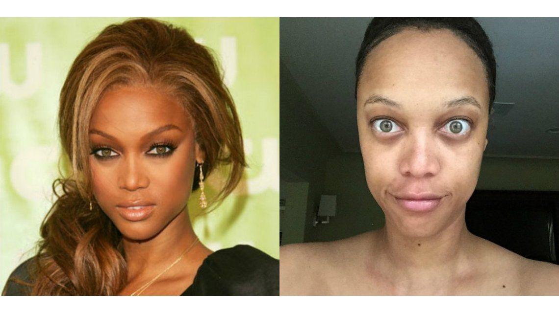 La impactante transformación de Tyra Banks con y sin maquillaje