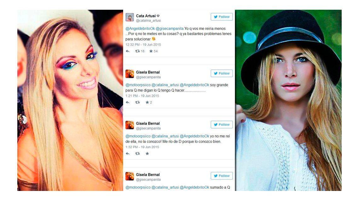 El fuerte cruce tuitero entre Catalina Artusi y Gisela Bernal: Yo que vos me reiría menos
